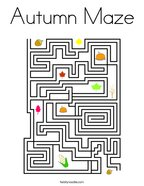 Autumn Maze Coloring Page