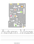 Autumn Maze Worksheet