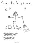 Color the fall picture Coloring Page