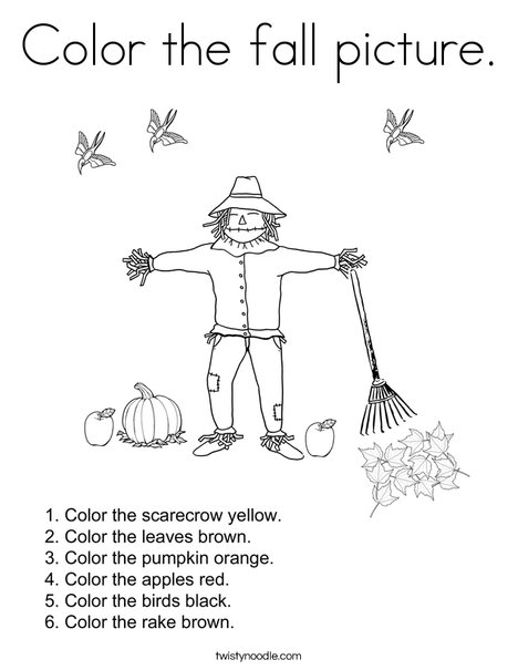 Autumn Picture Coloring Page