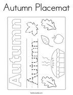 Autumn Placemat Coloring Page
