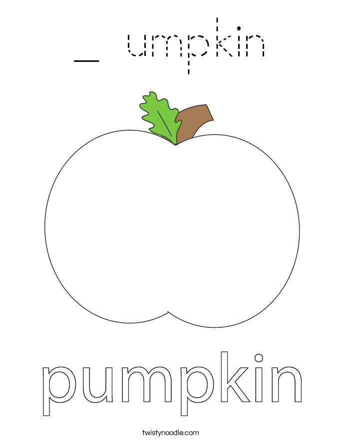 _ umpkin Coloring Page
