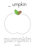 _ umpkin Coloring Page