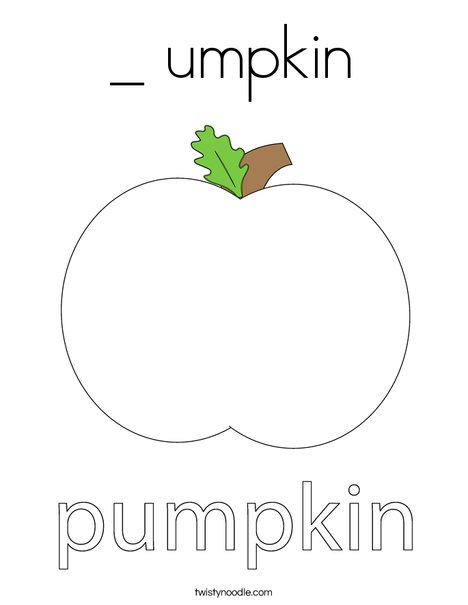Autumn Pumpkin Coloring Page