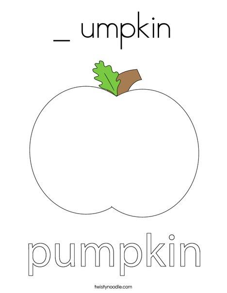Autumn Pumpkin Coloring Page