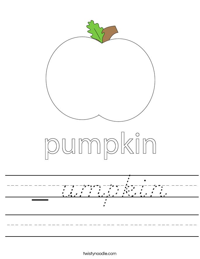 _ umpkin Worksheet