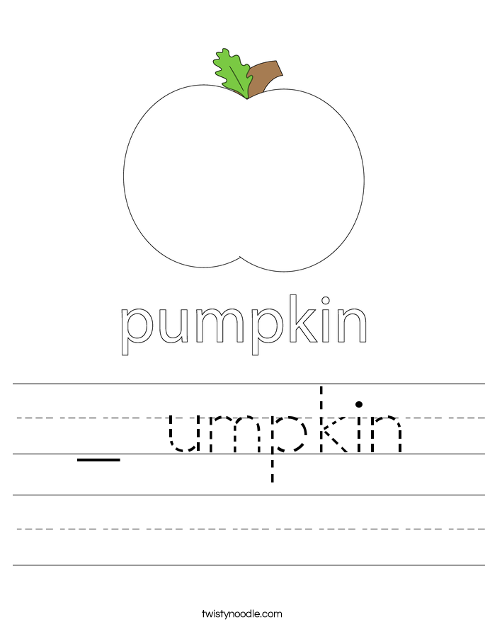 _ umpkin Worksheet