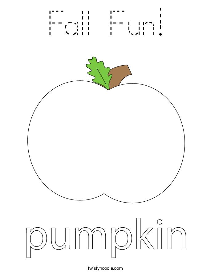 Fall Fun! Coloring Page
