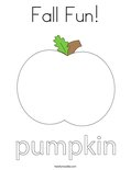 Fall Fun!Coloring Page