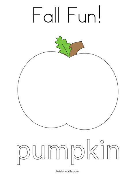 Fall Fun Coloring Page Twisty Noodle