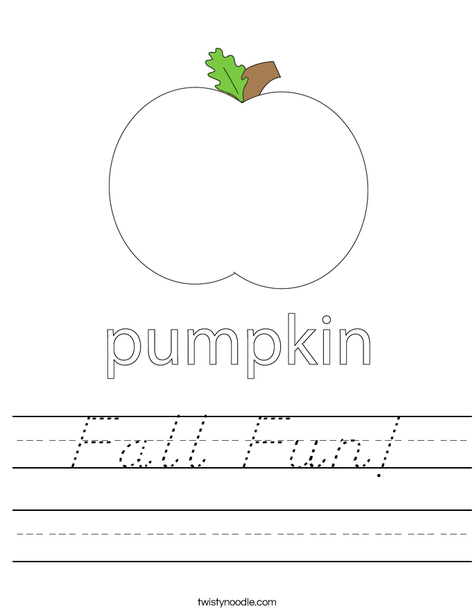 Fall Fun! Worksheet