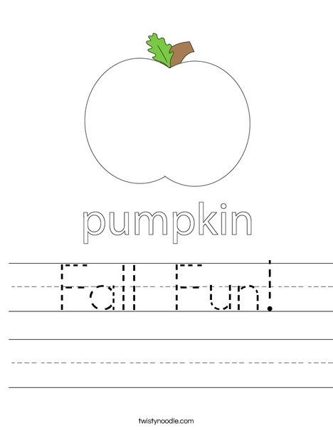 Autumn Pumpkin Worksheet