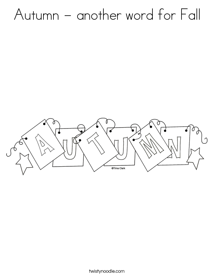 Autumn - another word for Fall Coloring Page