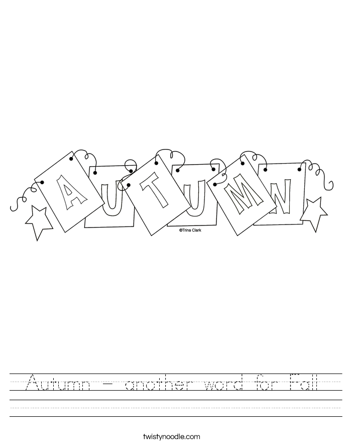 Autumn - another word for Fall Worksheet