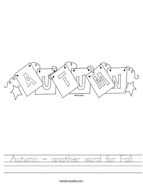 Autumn Sign Worksheet