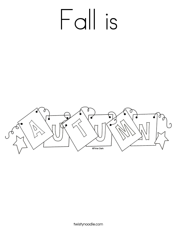 Fall is Coloring Page
