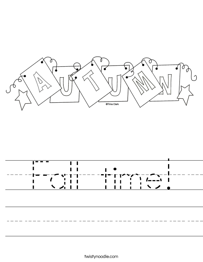 Fall time! Worksheet