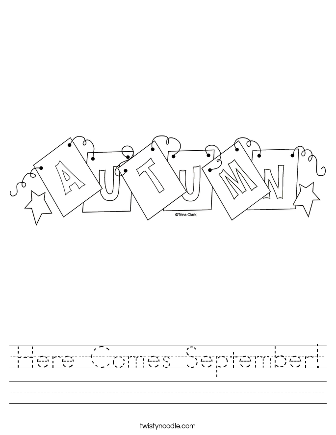 Here Comes September! Worksheet