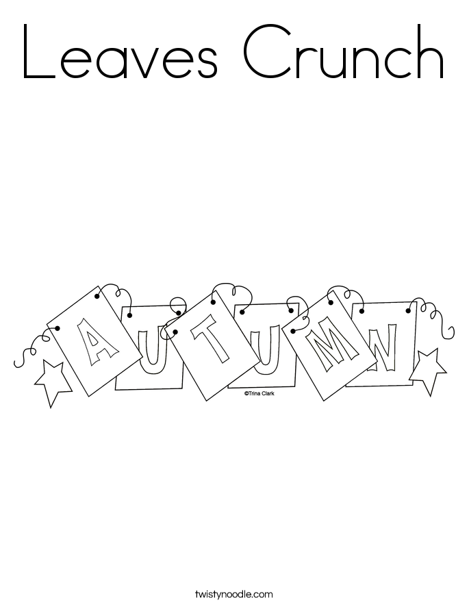 Leaves Crunch Coloring Page