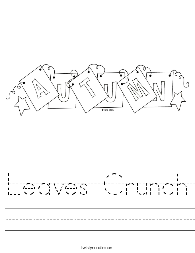Leaves Crunch Worksheet