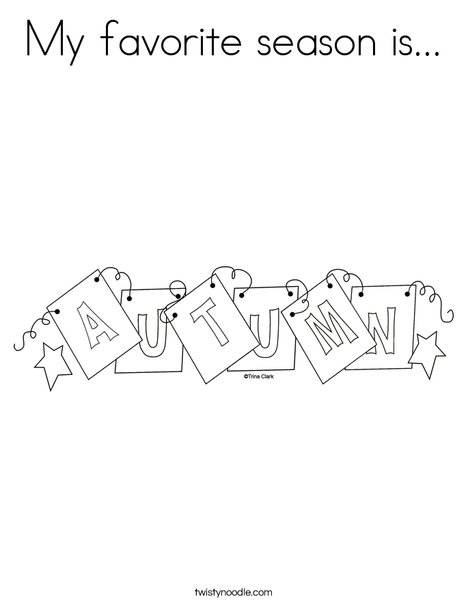 Autumn Sign Coloring Page