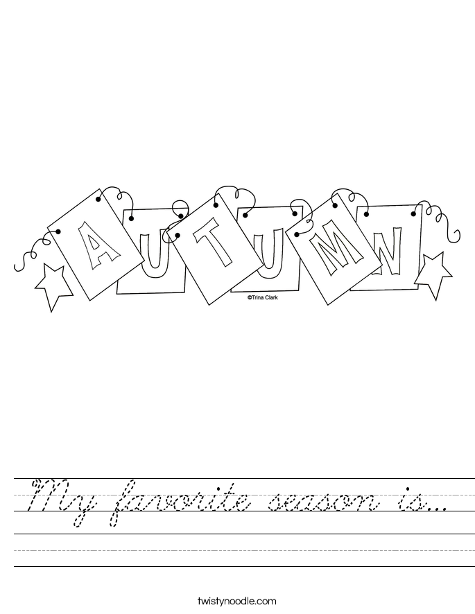 My favorite season is... Worksheet