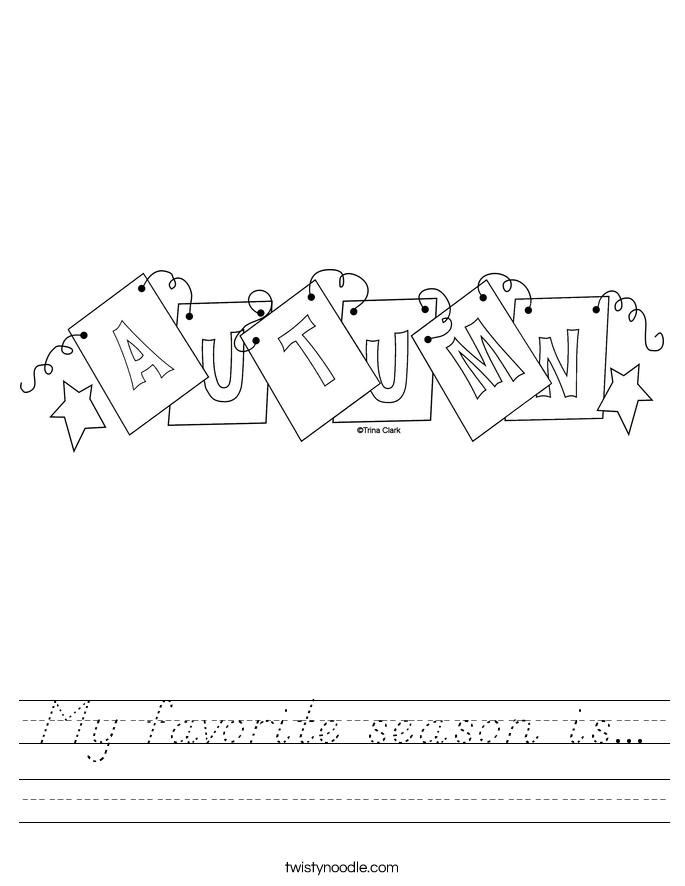 My favorite season is... Worksheet