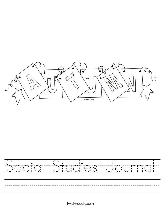 Social Studies Journal Worksheet