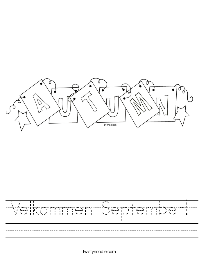 Velkommen September! Worksheet