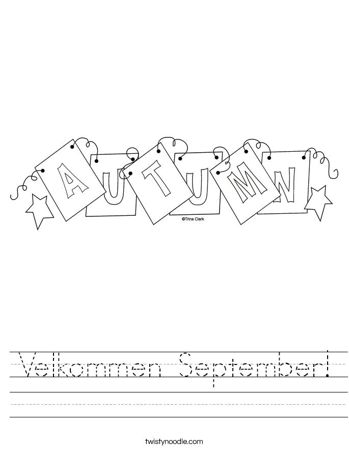 Velkommen September! Worksheet