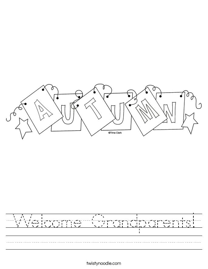 Welcome Grandparents! Worksheet