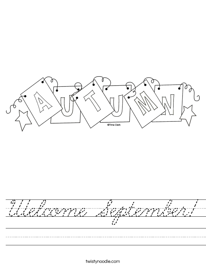 Welcome September! Worksheet