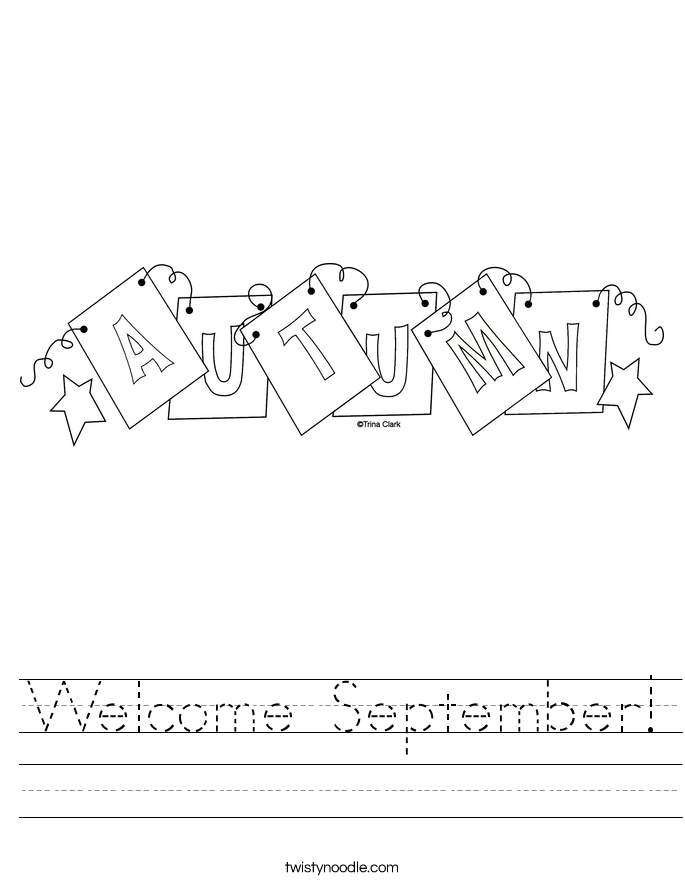 Welcome September! Worksheet