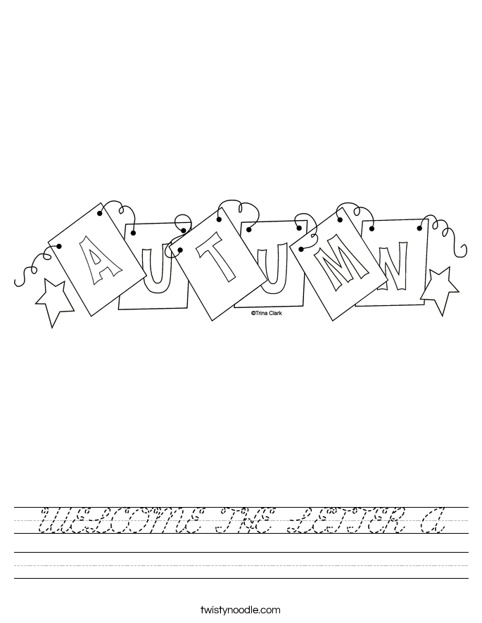 WELCOME THE LETTER A Worksheet