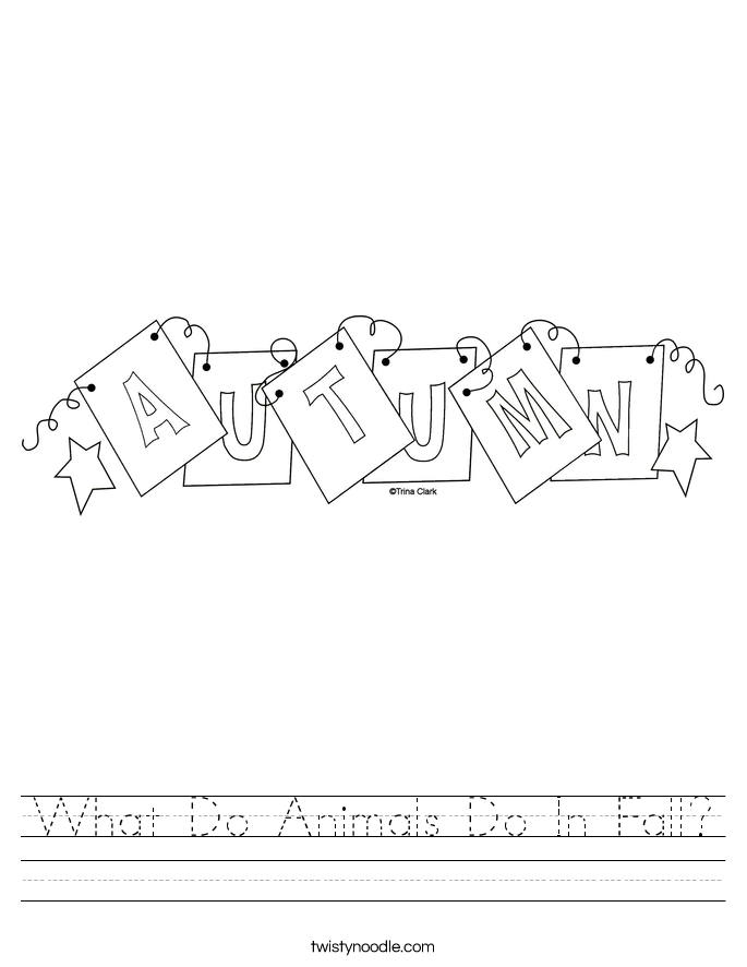 What Do Animals Do In Fall? Worksheet