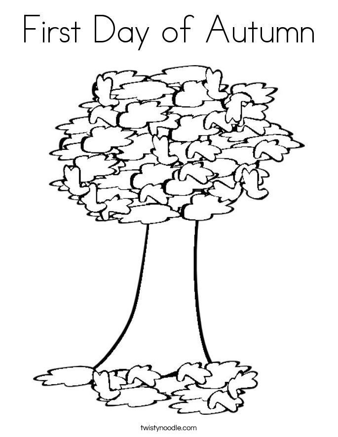 First Day of Autumn Coloring Page