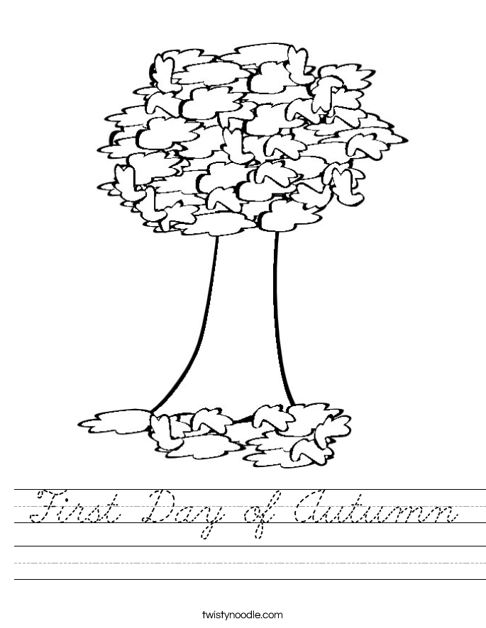First Day of Autumn Worksheet