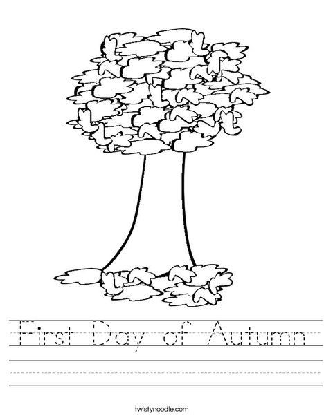 Autumn Tree Worksheet