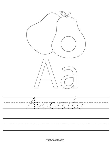 Avocado Worksheet