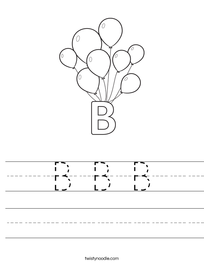B B B Worksheet