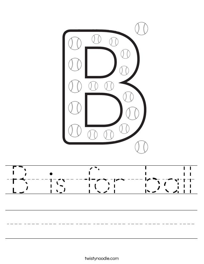 Letter B Worksheets - Twisty Noodle