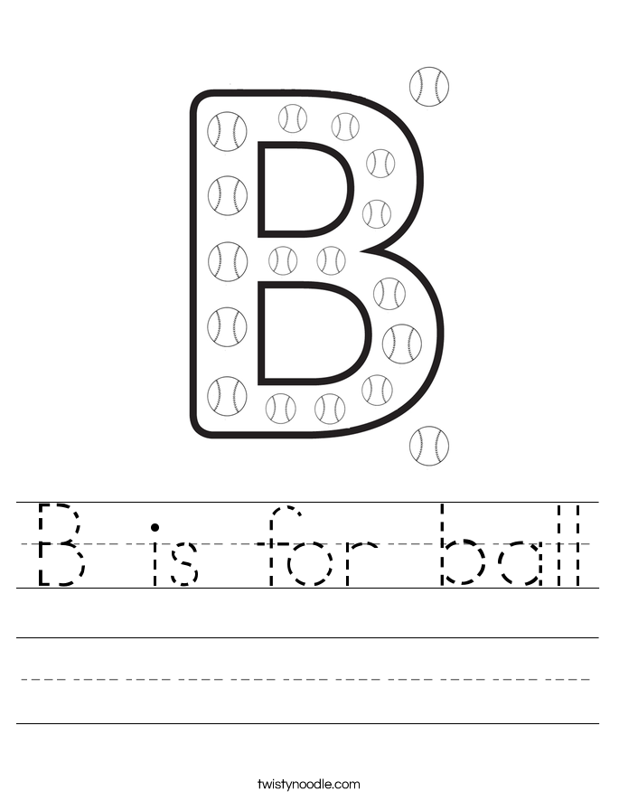 B is for ball Worksheet