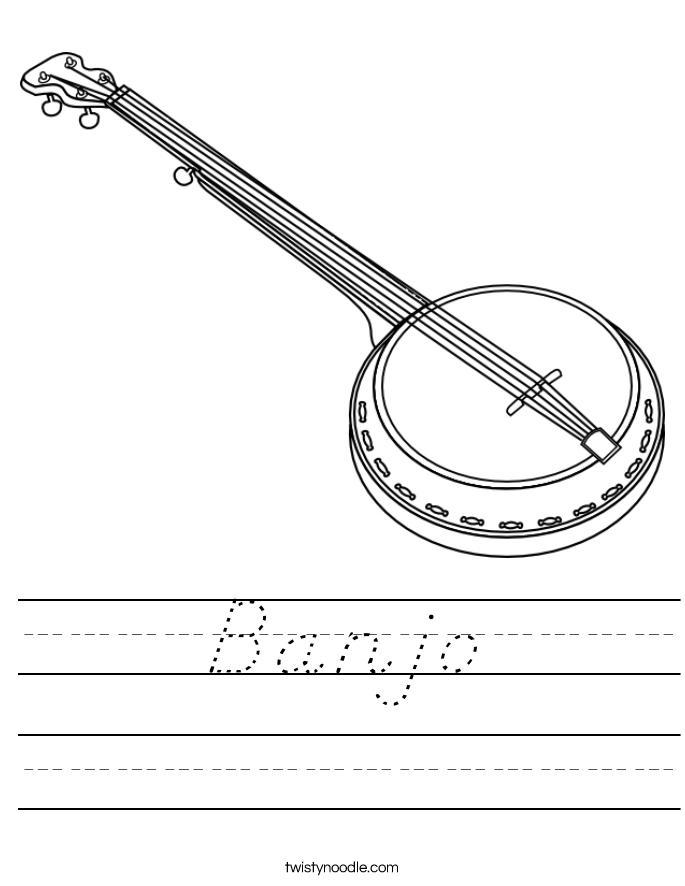 Banjo Worksheet