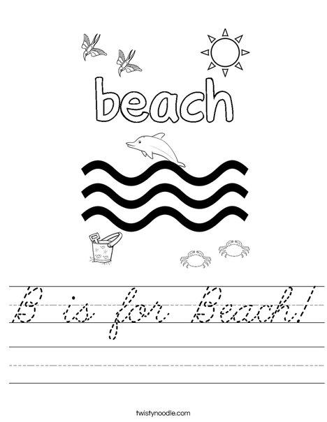 B is for Beach! Worksheet