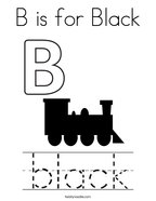 B is for Black Coloring Page