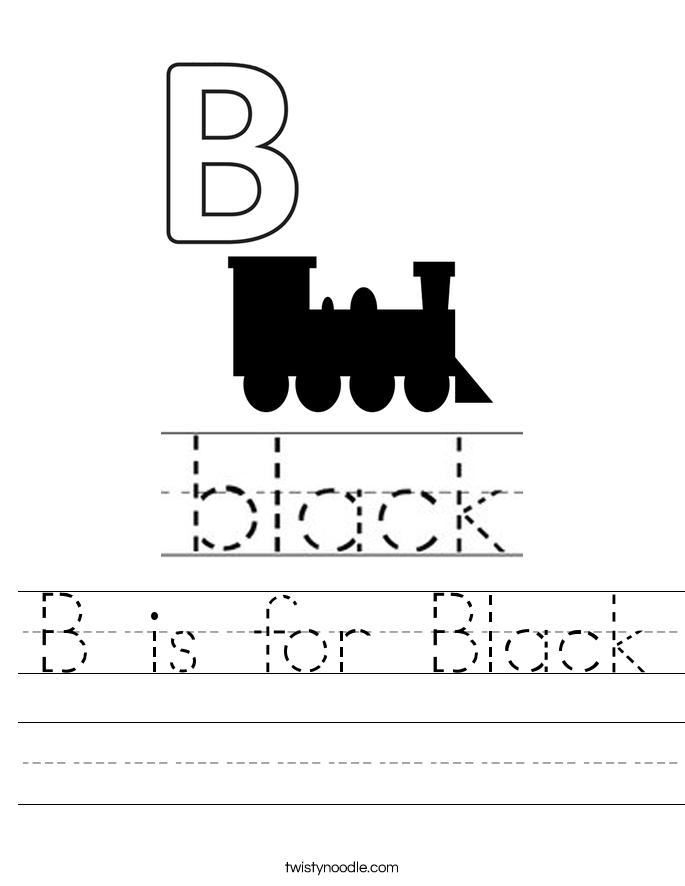 B is for Black Worksheet