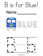 B is for Blue Coloring Page