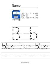 blue blue blue Worksheet