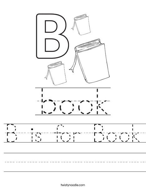 B is for Book Worksheet