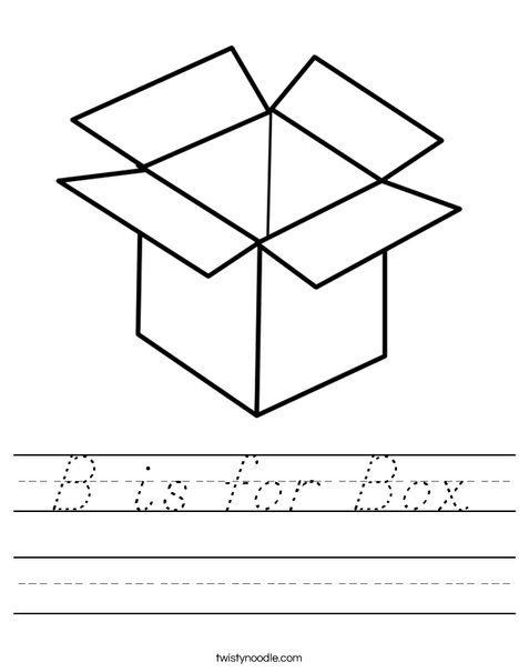 B is for Box Worksheet